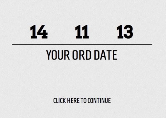 The countdown begins!